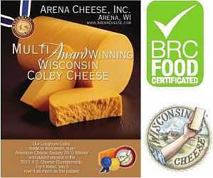 Certifications for award winning Colby Cheese